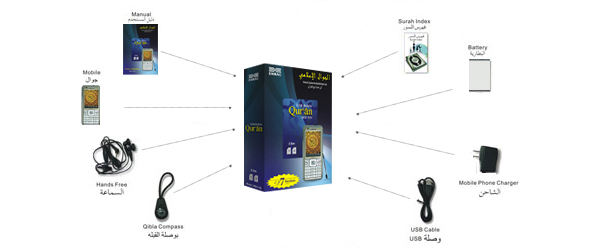 ENMAC - GSM Mobile Phone plus Digital Quran Player – MQ1100
